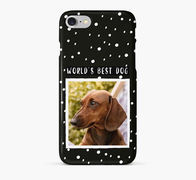 'Worlds Best Dog' Phone Case with photo of your Dachshund