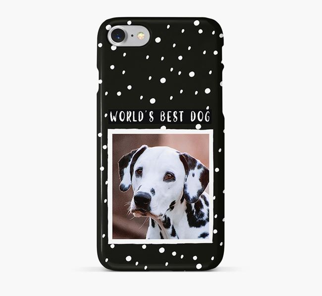 'Worlds Best Dog' Phone Case with photo of your Dalmatian