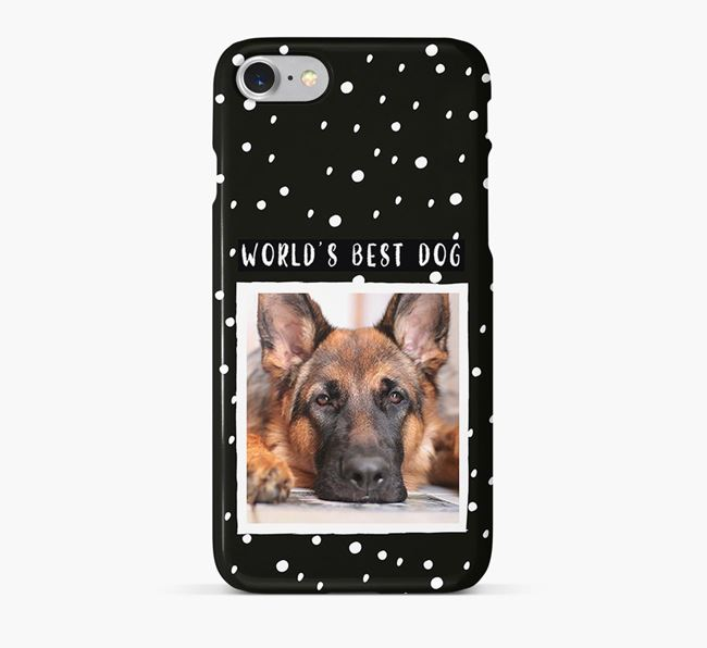 'Worlds Best Dog' Phone Case with photo of your German Shepherd