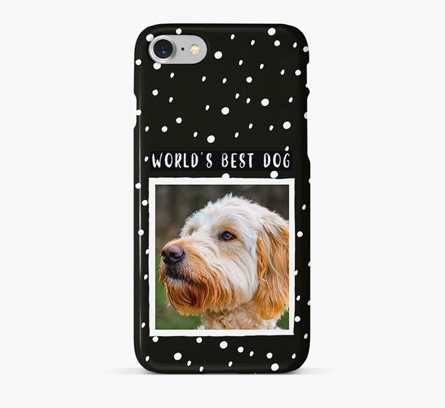 'Worlds Best Dog' Phone Case with photo of your Goldendoodle