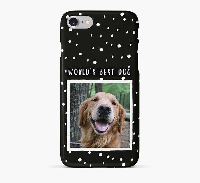 'Worlds Best Dog' Phone Case with photo of your Golden Retriever