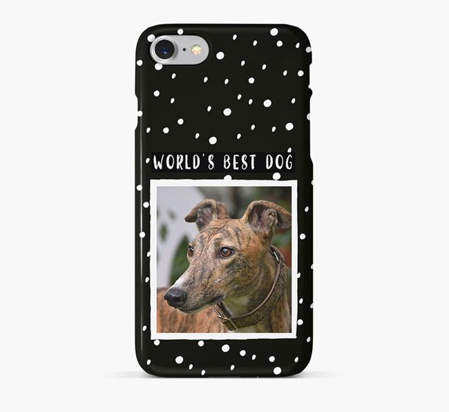 'Worlds Best Dog' Phone Case with photo of your Greyhound