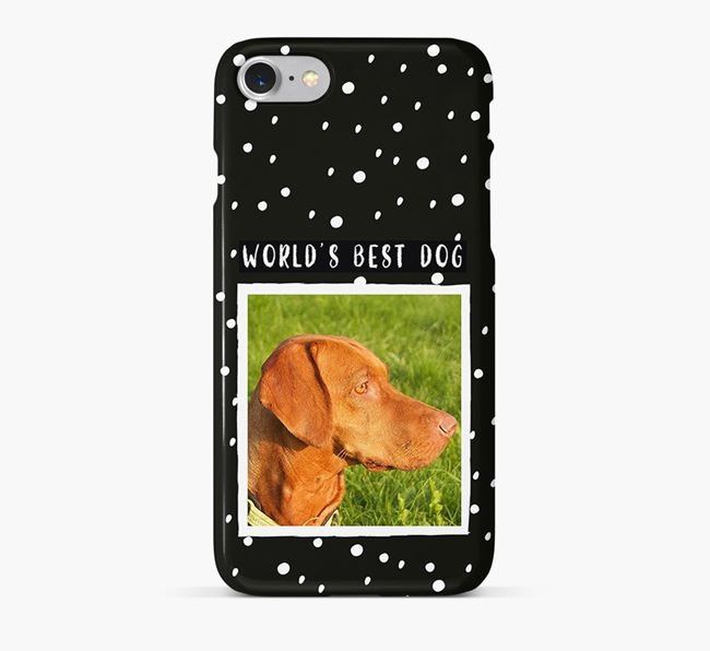 'Worlds Best Dog' Phone Case with photo of your Hungarian Vizsla