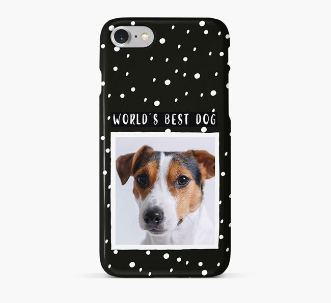 'Worlds Best Dog' Phone Case with photo of your Jack Russell Terrier