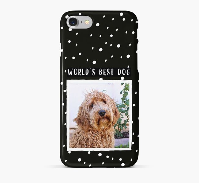 'Worlds Best Dog' Phone Case with photo of your Labradoodle