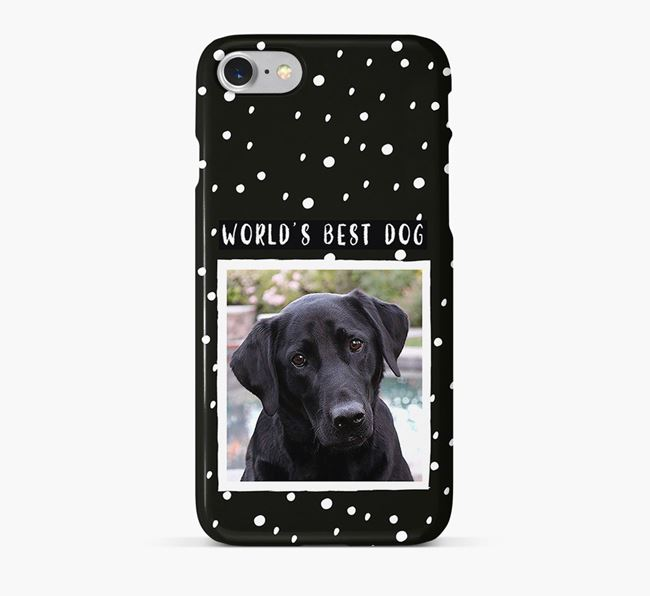 'Worlds Best Dog' Phone Case with photo of your Labrador Retriever