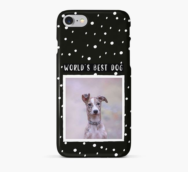 'Worlds Best Dog' Phone Case with photo of your Lurcher