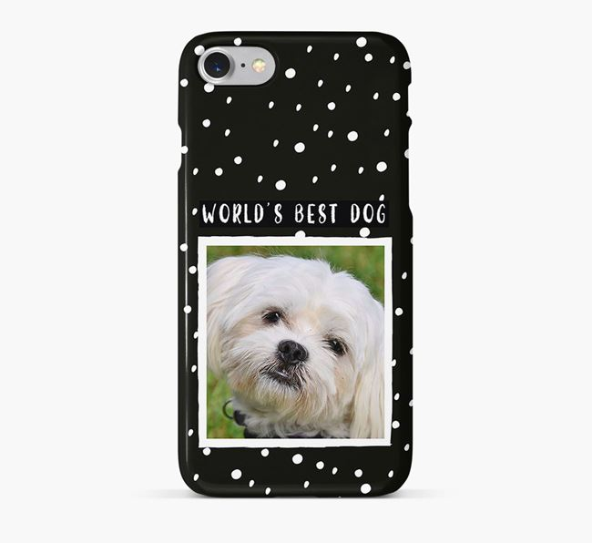 'Worlds Best Dog' Phone Case with photo of your Maltese