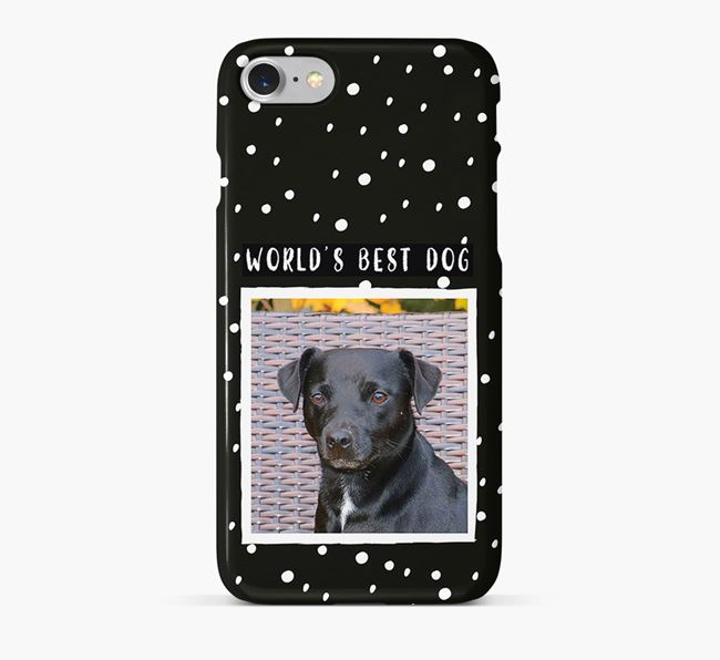 'Worlds Best Dog' Phone Case with photo of your Patterdale Terrier