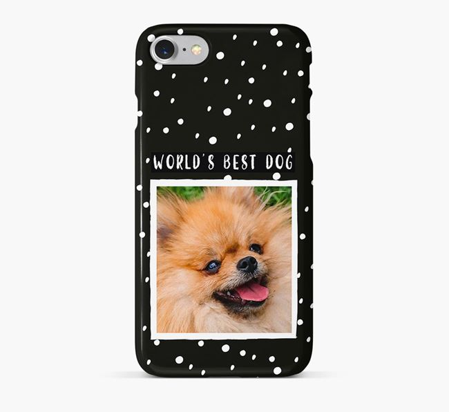 'Worlds Best Dog' Phone Case with photo of your Pomeranian