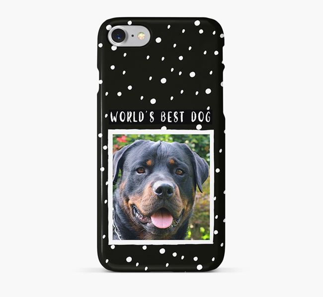 'Worlds Best Dog' Phone Case with photo of your Rottweiler