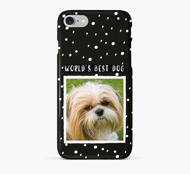 'Worlds Best Dog' Phone Case with photo of your Shih Tzu