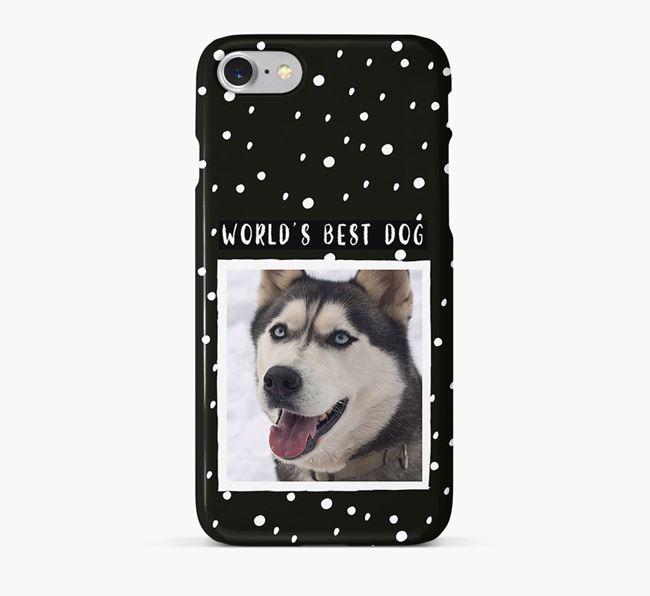 'Worlds Best Dog' Phone Case with photo of your Siberian Husky
