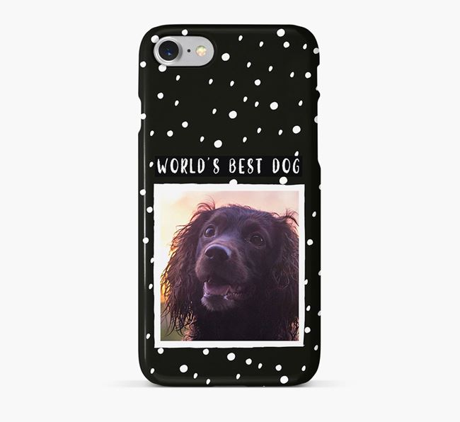 'Worlds Best Dog' Phone Case with photo of your Sprocker