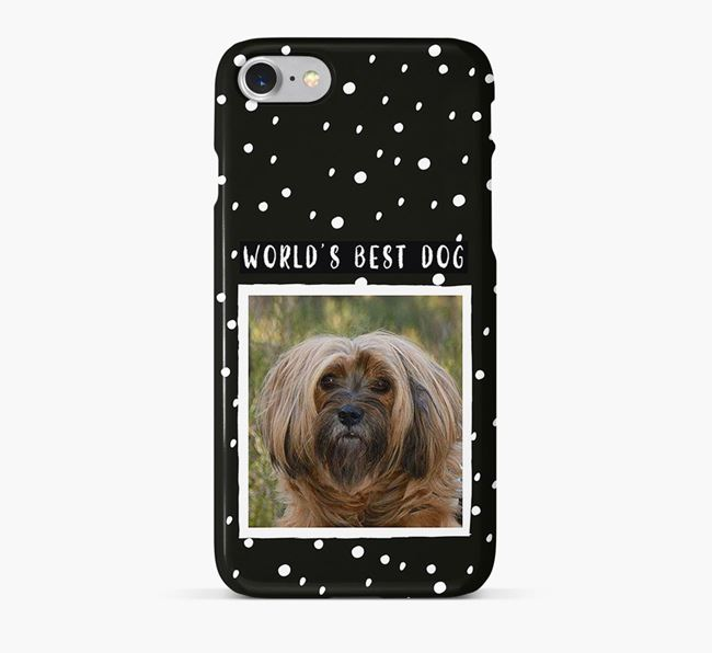 'Worlds Best Dog' Phone Case with photo of your Tibetan Terrier