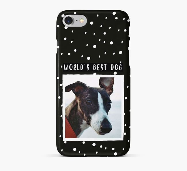 'Worlds Best Dog' Phone Case with photo of your Whippet