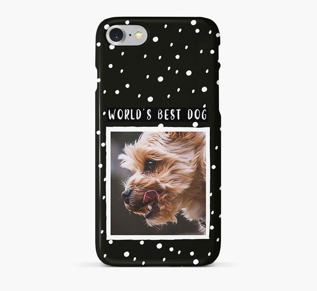 'Worlds Best Dog' Phone Case with photo of your Yorkshire Terrier