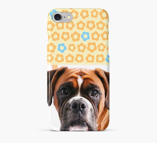 Flower Pattern Phone Case with photo of your Boxer