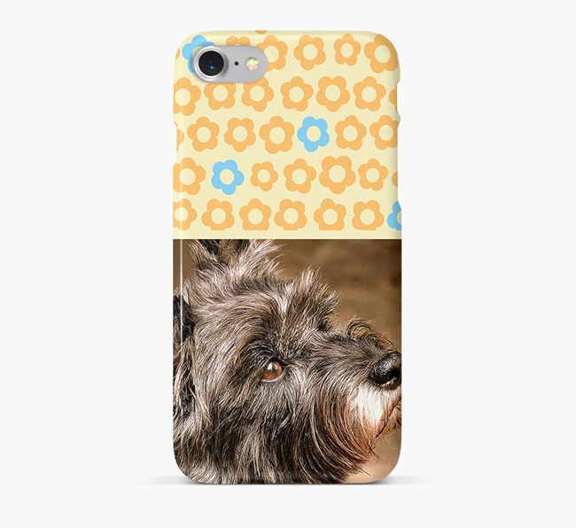 Flower Pattern Phone Case with photo of your Cairn Terrier