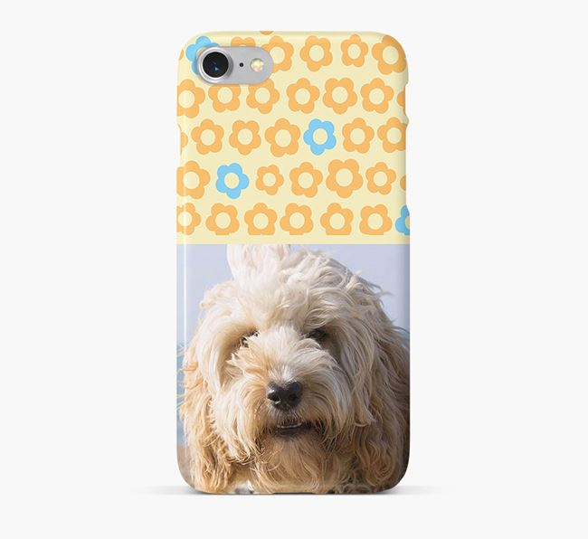 Flower Pattern Phone Case with photo of your Cockapoo