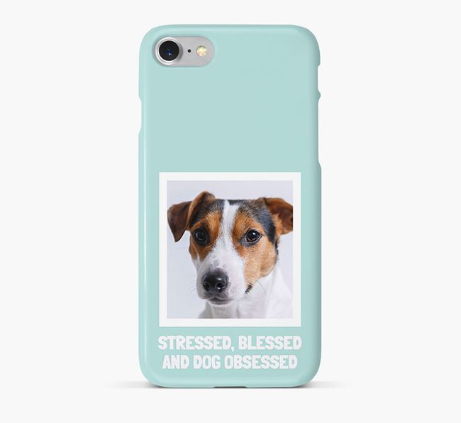 'Stressed, Blessed and Dog Obsessed' Phone Case with photo of your Jack Russell Terrier