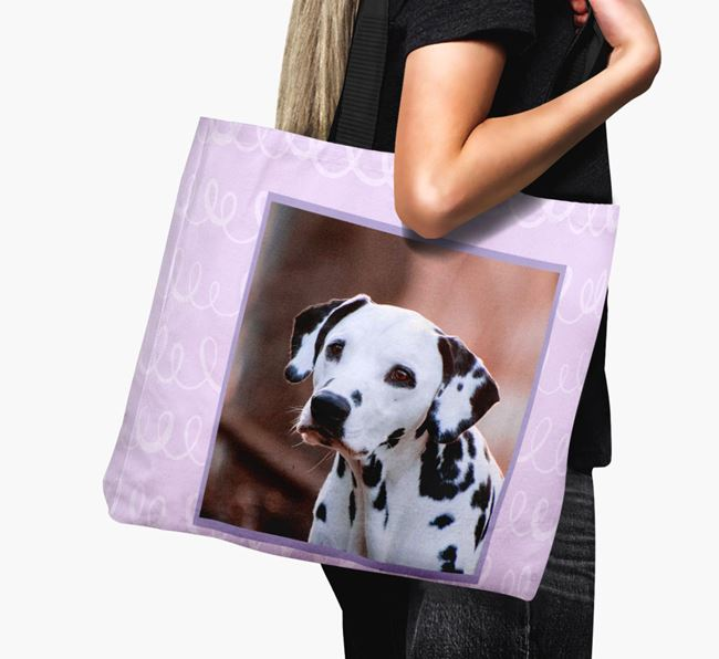 Photo Upload Canvas Bag with Scribbles - Personalised for your Dog