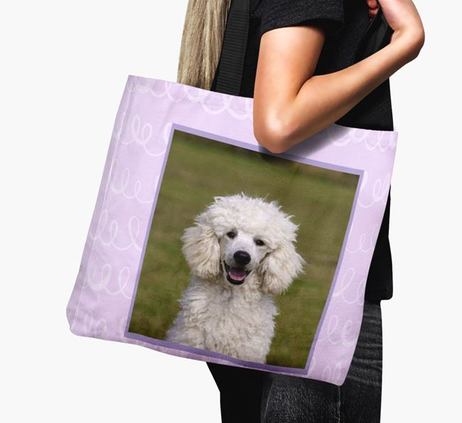 Photo Upload Canvas Bag with Scribbles - Personalised for your Poodle