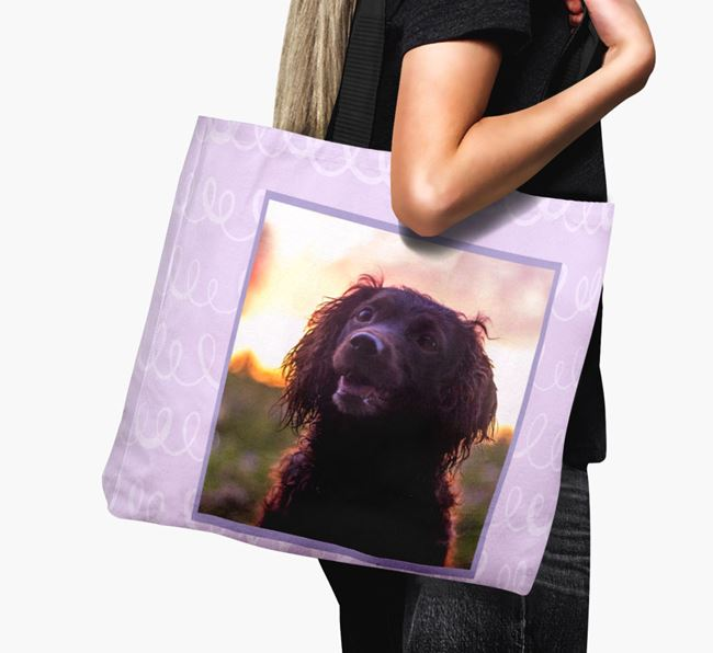 Photo Upload Canvas Bag with Scribbles - Personalised for your Sprocker