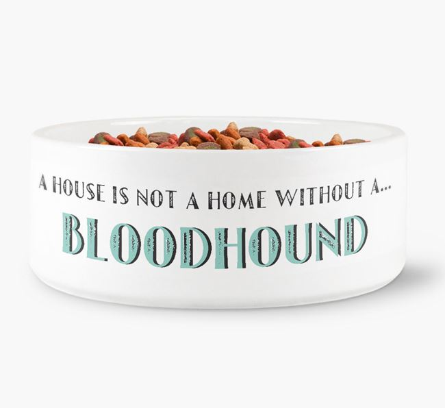 'A House Is Not A Home Without My Bloodhound' Dog Bowl
