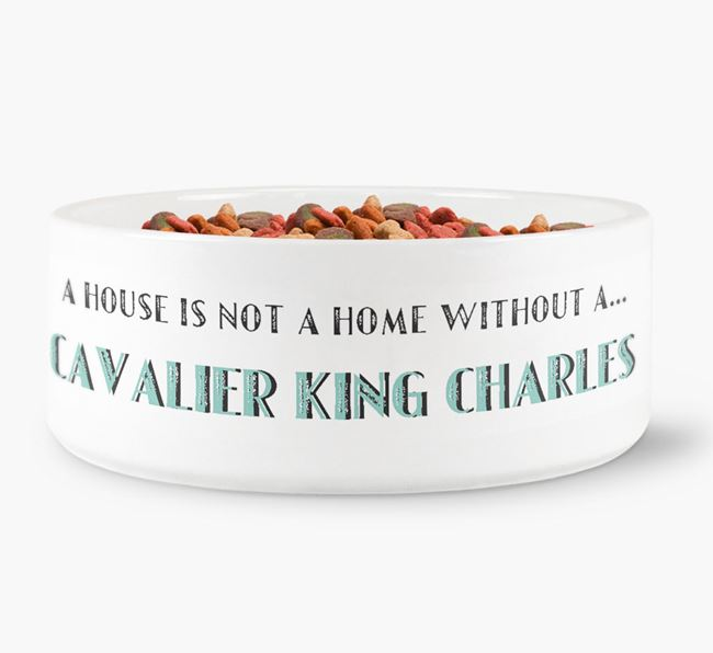 'A House Is Not A Home Without My Cavalier King Charles' Dog Bowl
