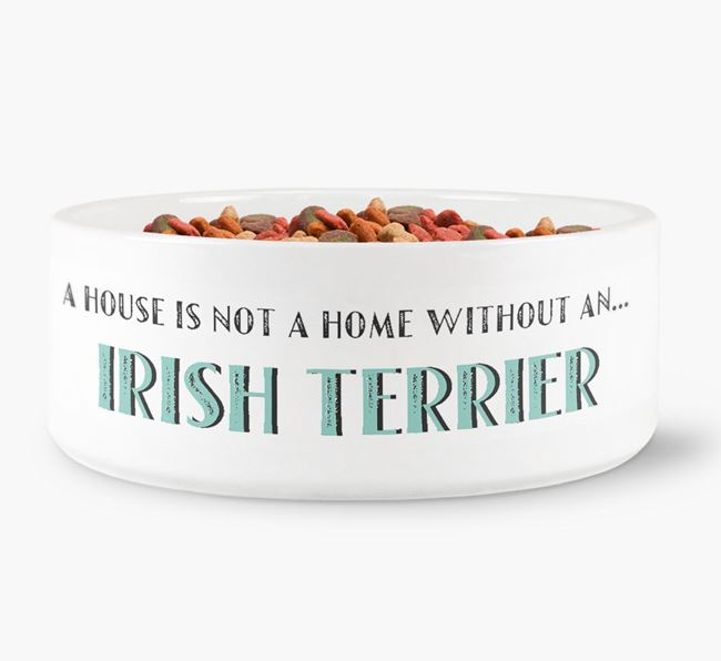 'A House Is Not A Home Without My Irish Terrier' Dog Bowl