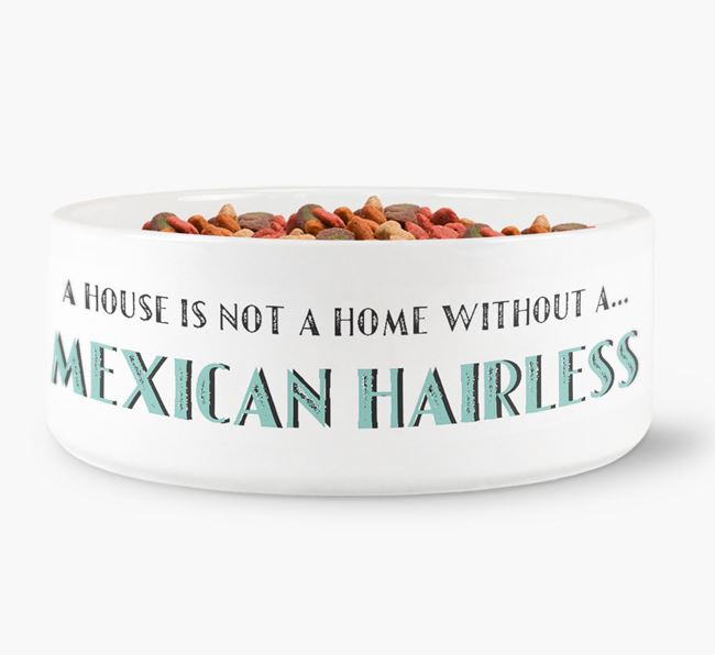 'A House Is Not A Home Without My Mexican Hairless' Dog Bowl