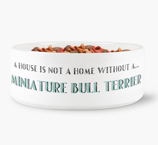 'A House Is Not A Home Without My Miniature Bull Terrier' Dog Bowl