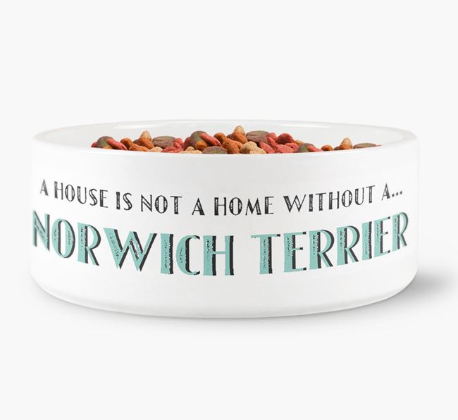 'A House Is Not A Home Without My Norwich Terrier' Dog Bowl