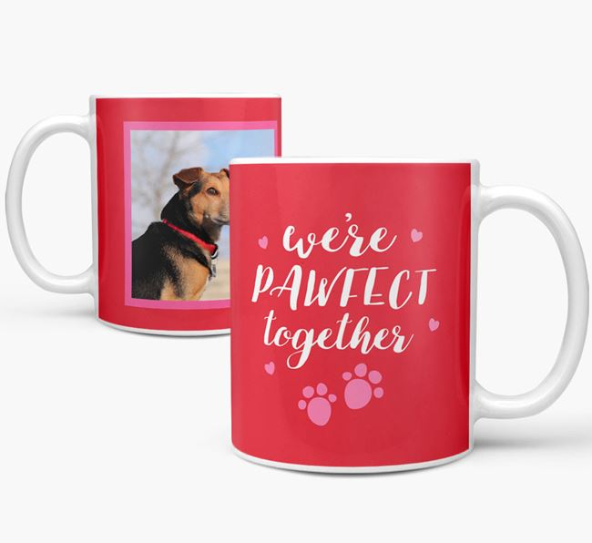 'We're Pawfect Together' Mug with Photo of your Jack-A-Poo