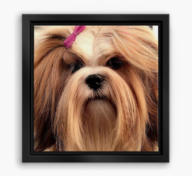 Photo Upload Boxed Canvas Print - Personalised with your Lhasa Apso
