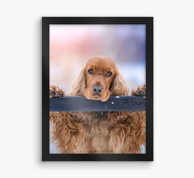 Photo Upload Framed Print - Personalised with your Cocker Spaniel