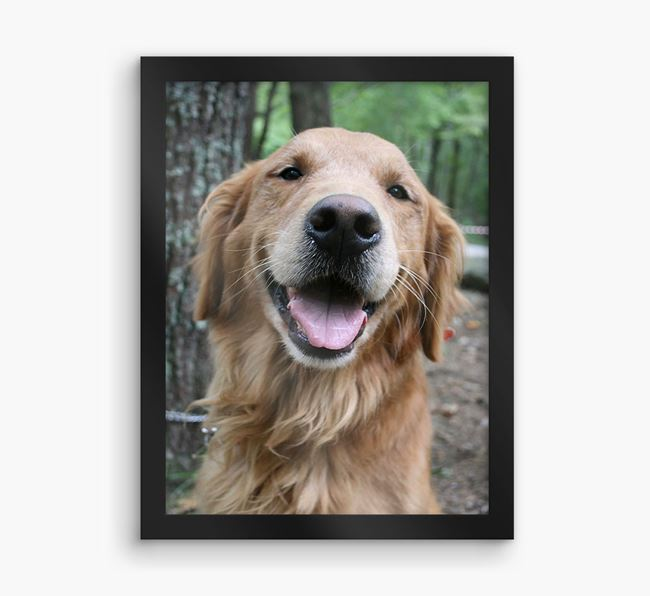 Photo Upload Framed Print - Personalised with your Golden Retriever