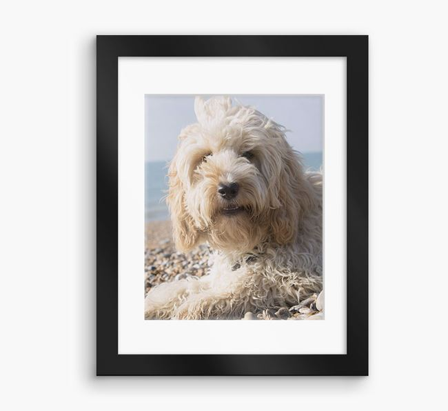 Photo Upload Framed Print with Mount - Personalised with your Cockapoo