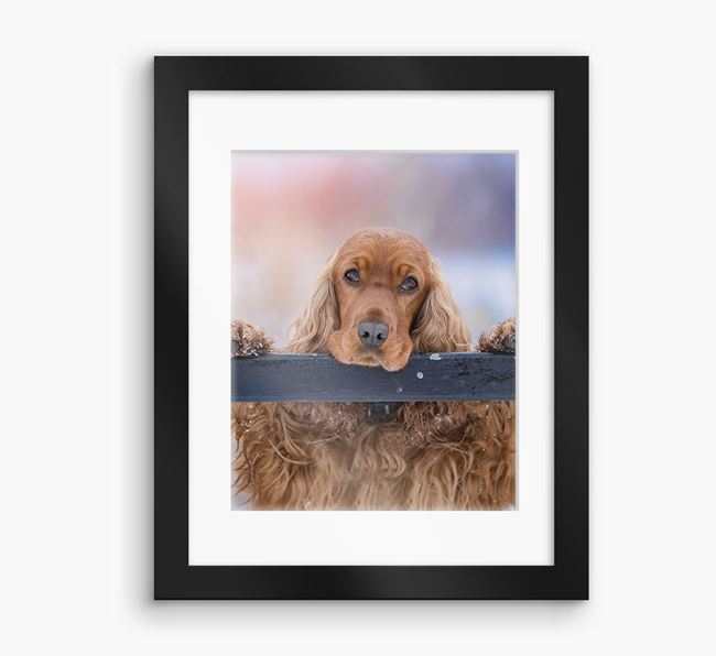 Photo Upload Framed Print with Mount - Personalised with your Cocker Spaniel