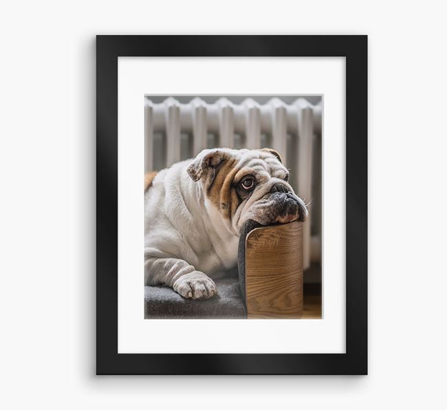 Photo Upload Framed Print with Mount - Personalised with your English Bulldog