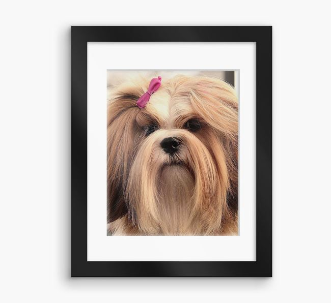 Photo Upload Framed Print with Mount - Personalised with your Lhasa Apso