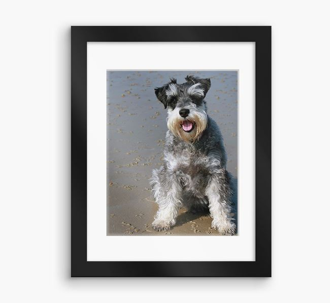 Photo Upload Framed Print with Mount - Personalised with your Schnauzer