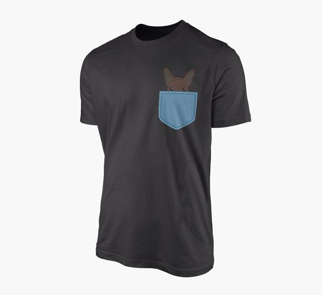 French Bulldog Icon in Pocket Adult T-Shirt