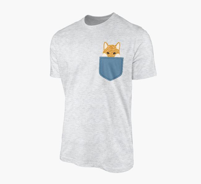 Japanese Shiba Icon in Pocket Adult T-Shirt