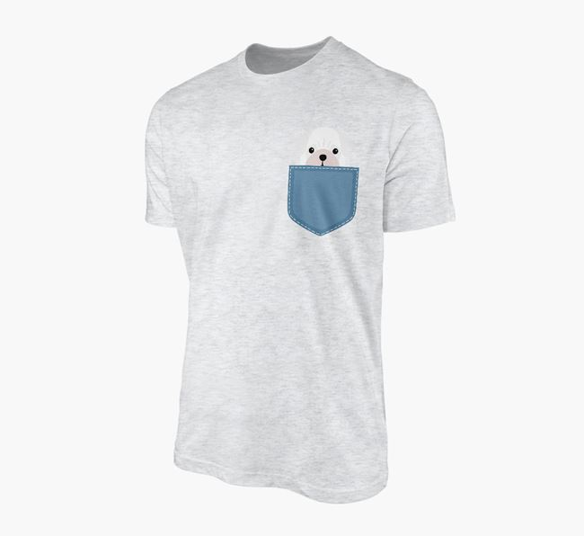 Pug Icon in Pocket Adult T-Shirt