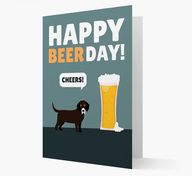 'Happy Beer Day' Card with Bassador Icon