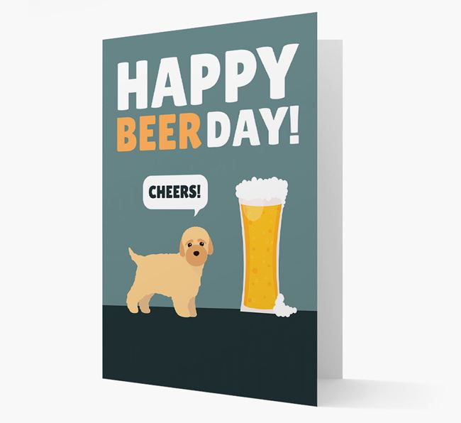 'Happy Beer Day' Card with Bich-poo Icon