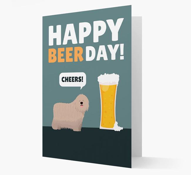 'Happy Beer Day' Card with Komondor Icon