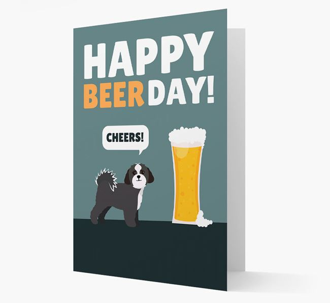'Happy Beer Day' Card with Lhasapoo Icon